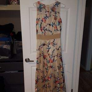 Embroidered Flower Dress